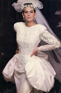 vintage brides cindy crawford in 1980s bridal old With cindy crawford wedding dress
