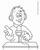 Radio Announcer Coloring Yurls Stuff Ausmalen Getcolorings Colouring Asked Questions Printable Dibujo Getdrawings Conversation Umenie Uložené sketch template