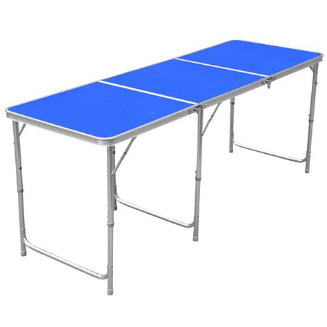compact folding cing table 1 8m 6ft aluminum portable folding cing picnic party