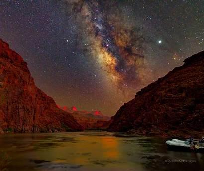 Canyon Sky Sunset Night Grand Nasa February