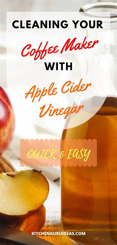 Leftover coffee residue and an environment that is both moist and warm presents the perfect conditions for the spread of bacteria. Can I Use Apple Cider Vinegar To Clean Coffee Pot - Apple ...