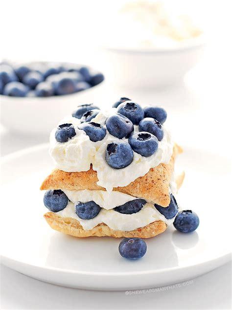 and easy blueberry recipes easy blueberry lemon napoleon dessert recipe she wears many hats