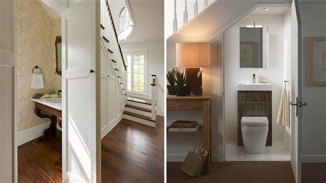 Creative Small Kitchen Ideas - expert advice building a powder room under the stairs rl