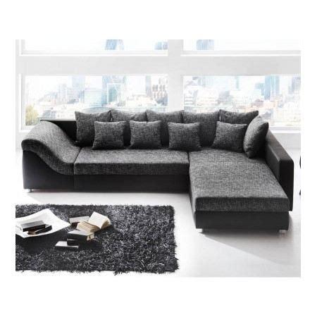 canapé d angle gris et noir canapé d 39 angle convertible river noir gris achat vente