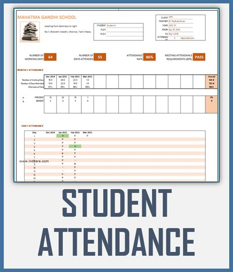 Trip Tracker Certificate Template by Student Attendance Register Excel Template