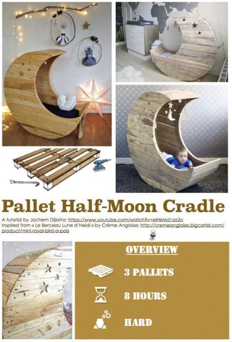 diy  pallet  moon cradle  pallets   baby crib diy diy crib diy