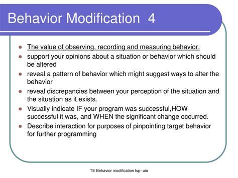 Behavior Modification by Ppt Behavior Modification 1 Powerpoint Presentation Id