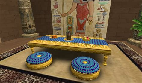 life marketplace egyptian gold dining table