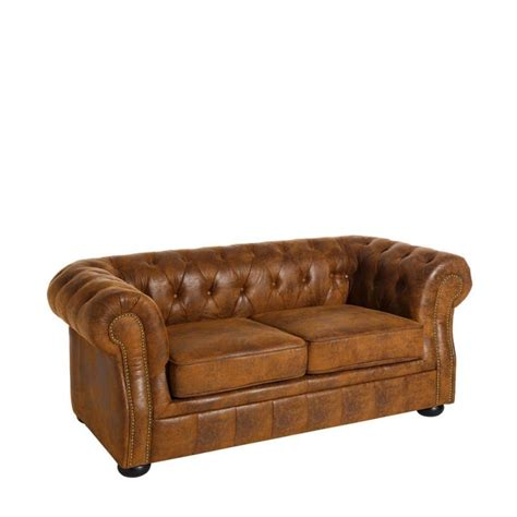 canape chesterfield tissu canapé 2 places chesterfield tissu marron stroke univers