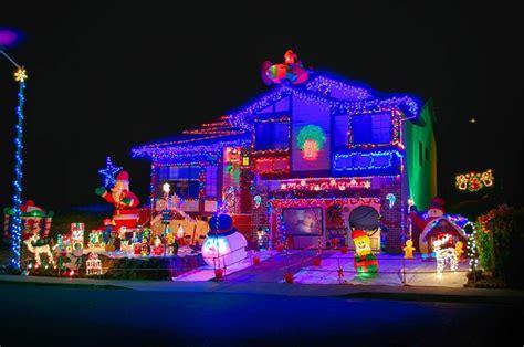Christmas Lights On Houses  Happy Holidays