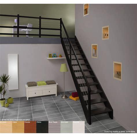 escalier quart tournant bas gauche acier structure