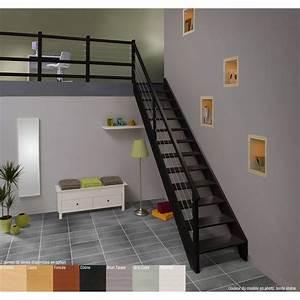 Escalier Quart Tournant Bas : escalier quart tournant bas droit urban acier structure ~ Dailycaller-alerts.com Idées de Décoration