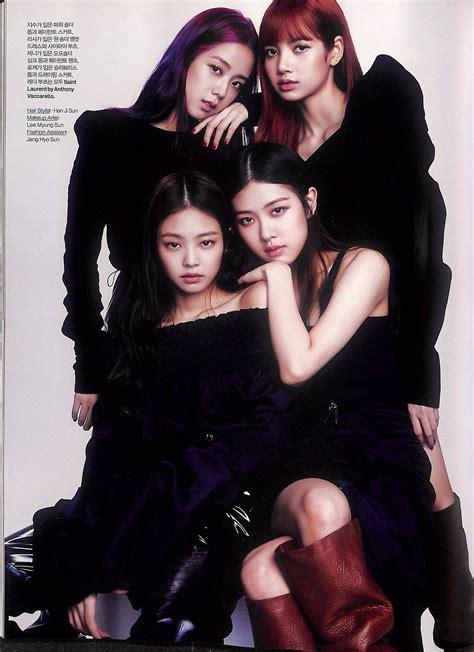 scan blackpink  elle korea august  issue