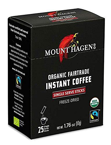I have been buying this coffee for a couple of years. Mount Hagen -REGULAR Organic Instant Coffee Freeze Dried 25 Single Serve Packets- 1.76 Oz Each ...