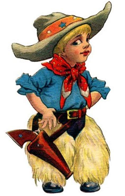 vintage clip art cute  cowboy   graphics fairy