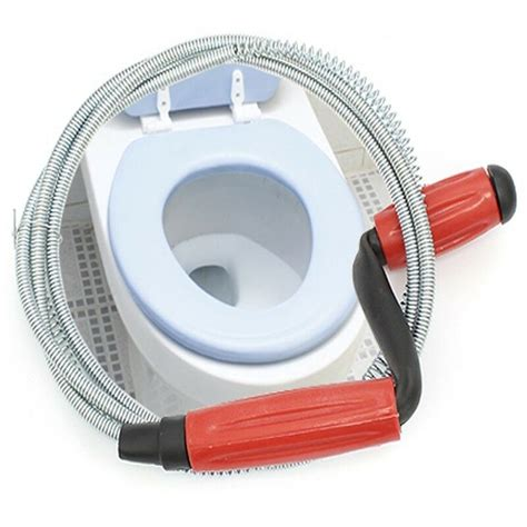 snake drain buster unclog toilet bathroom spring wire