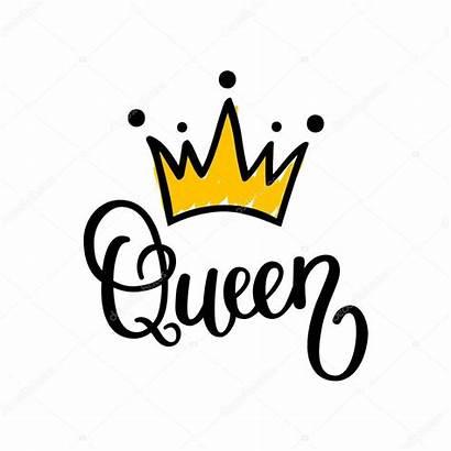 Queen Crown Vector Calligraphy Illustration Depositphotos