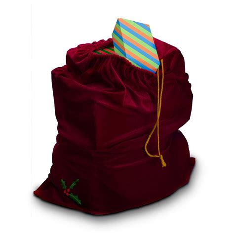 sunnywood santa claus costume drawstring gift bag 229149