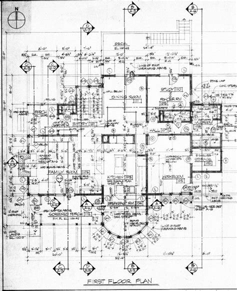 Construction House Plans by Floor Plan Construction Document Residence
