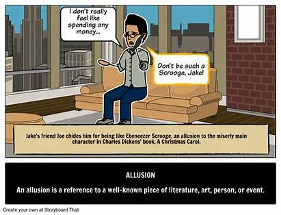 Allusion Definition Literary Examples Terms Define Storyboard