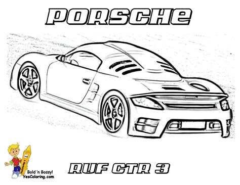 Mega Sports Car Coloring Pages Sports Cars Free