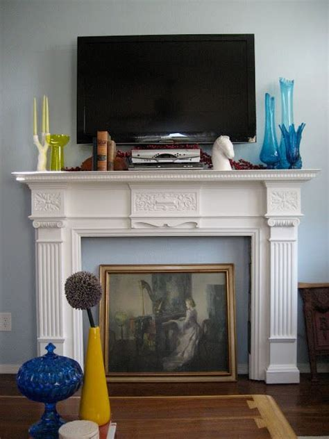 faux mantle ideas  pinterest fake fireplace