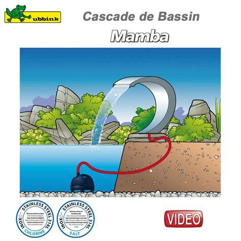 cascade pour bassin ext 233 rieur mamba inox 316 ubbink 7504442 ubbink