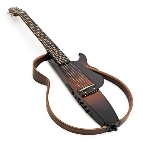 yamaha silent guitar yamaha slg200s steel string silent guitar tobacco brown