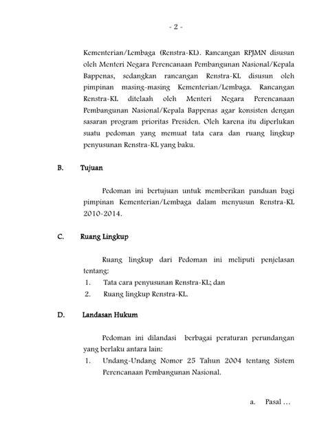 Pedoman Penyusunan Rencana Strategis Kementerian/Lembaga