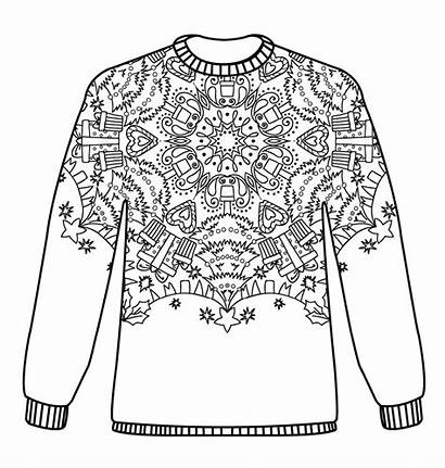 Christmas Jumpers Pattern Colouring Jumper Coloring Patterns