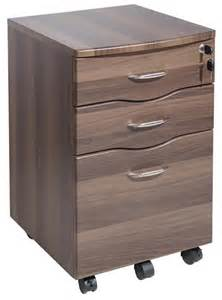 filing cabinet dark walnut on wheels 3 drawer lock new ebay