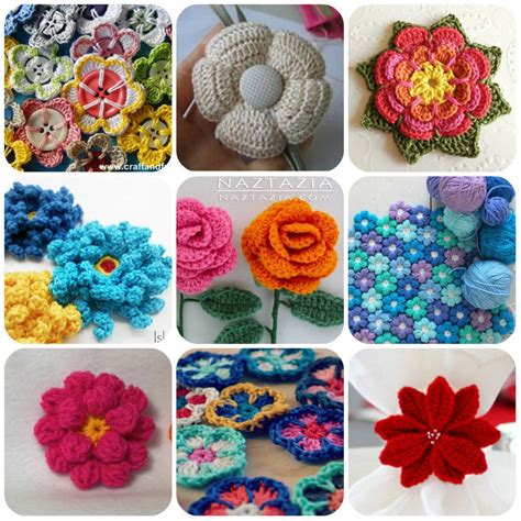 fiori a uncinetto tutorial tanti fiori a uncinetto con spiegazioni schemi e tutorial