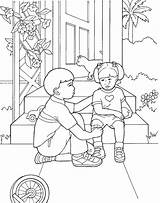 Lds Coloring Primary Hurt Mormon Printable Boy Children Teaching Colouring Church Comforts Activities Template sketch template