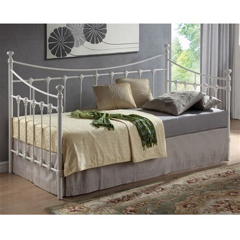 florida vintage style metal daybed in ivory 27145 furniture