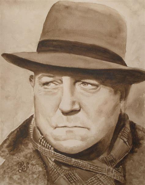 jean gabin resistant portrait jean gabin peinture aquarelle originale s 233 pia
