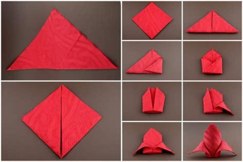 servietten falten einfach anleitung servietten falten anleitung schleppe rot