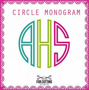 circle font double line monogram cut files svg dxf eps With circle monogram generator
