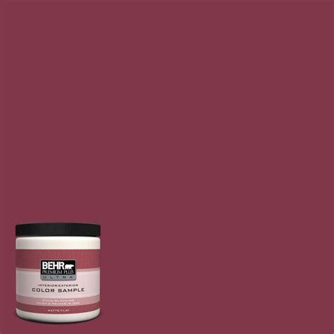 behr premium plus ultra 8 oz 120d 7 ruby red matte
