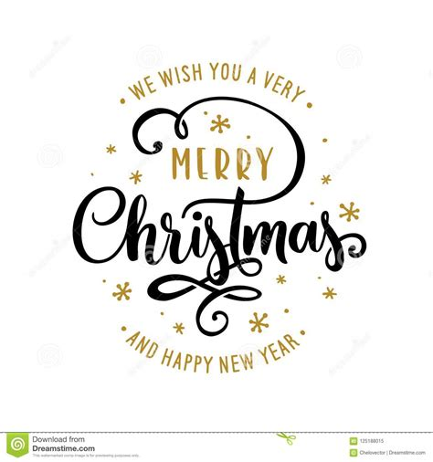 Merry Christmas And Happy New Year Lettering Template