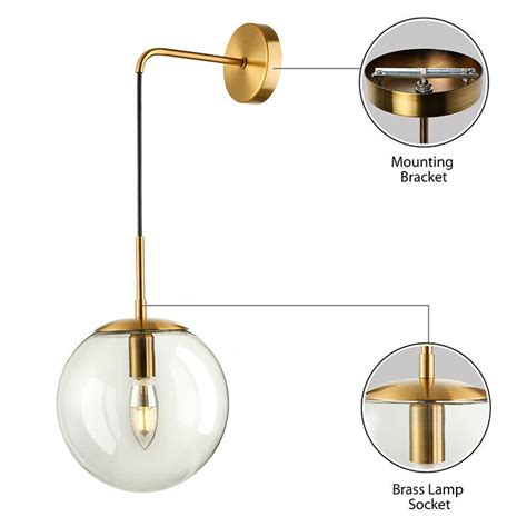 nordic modern hanging wall sconce single suspender wall