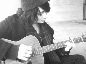 Latest Fashion Trends Sad Alone Boy With Guitar