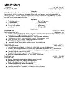 resume template for customer service associates duties and responsibilities unforgettable retail parts pro resume exles to stand out myperfectresume