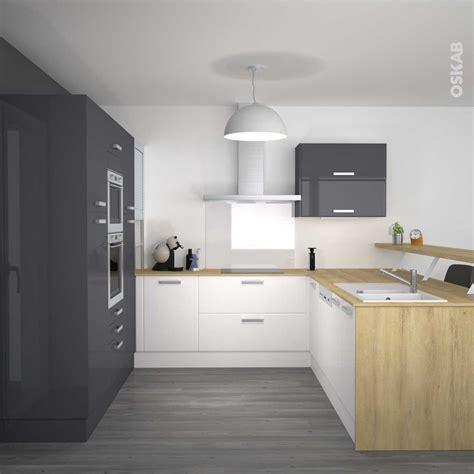 cuisine beige et bois cuisine gris et bois photo avec charmant cuisine gris et