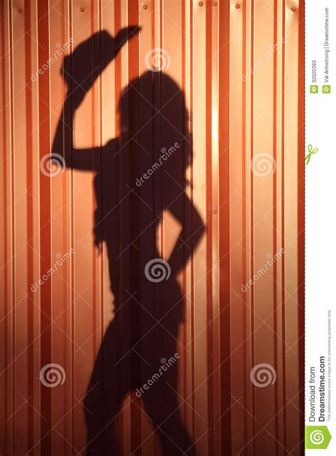 shadow   country woman stock  image