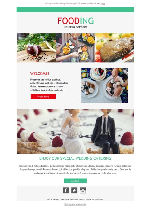 catering email template free email templates design catering fooding