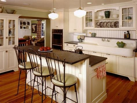 Kitchen Island with Sink and Raised Bars