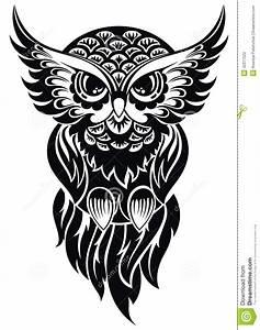 Owl. Tattoo design stock vector. Illustration of ...