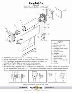 16 Manual Roller Shade System W   Fascia