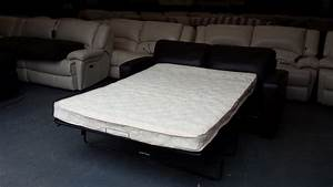 ex display dante brown leather 25 seater sofa bed outside With sofa bed support panel