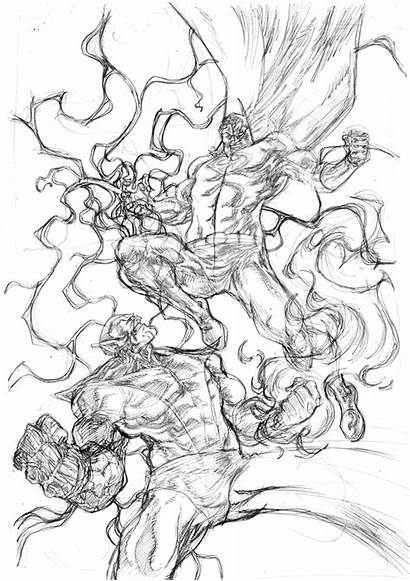 Skrull Superman Vs Pencils Stockman Nate Composite